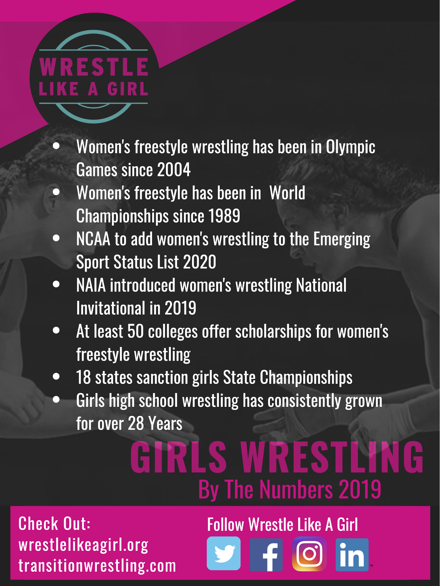 Girls wrestling by the numbers
